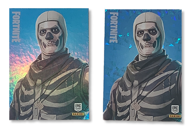 Holo and Cracked Ice Fortnite Cads